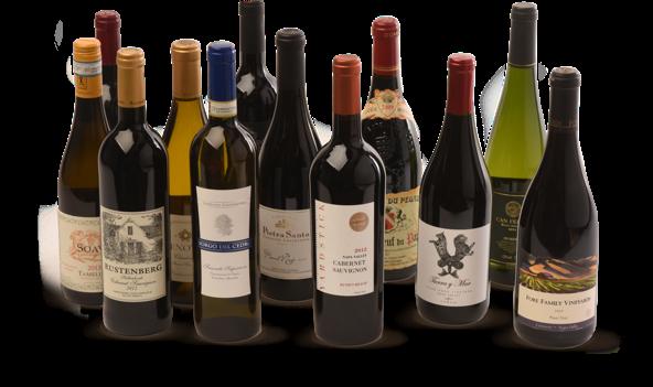 wine bottles standing